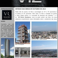 Informativo V12 - VR Resort Residence - Out/2014