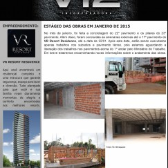 Informativo V12 - VR Resort Residence - Jan/2015